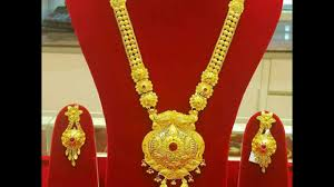 gold pendant long necklace images Gold long necklace sets all new collection ranihaar designs with jpg