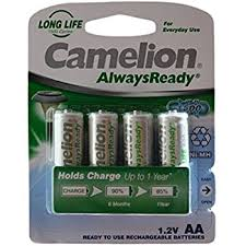 How Long To Charge Solar Lights - camelion saa b4 aa solar light rechargeable batteries pack of 4
