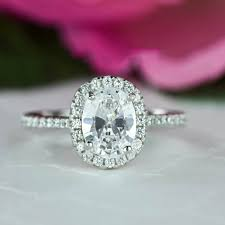 halo wedding ring 1 5 ctw classic oval halo engagement ring halo wedding ring