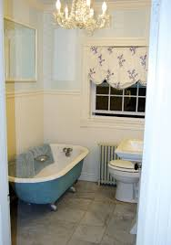 white blue tiles with chic pattern in vintage bathroom design