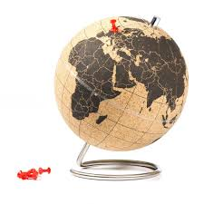 Cork World Map by Amazon Com Uk Mini Cork Globe Home U0026 Kitchen