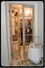 Used Closet Doors Repurposed Doors Used As Closet Doors For A Smaller