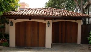 Ceramic Tile Roof Spanish Style Ceramic Tile Roof On Two Car Garage With Wooden