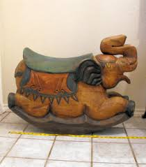 Real Wood Rocking Chairs Solid Wooden Elephant Rocker Collectors Weekly