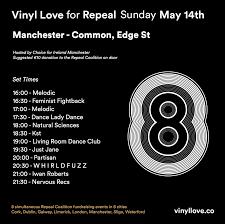 manchester vinyl love for repeal manchester common edge st