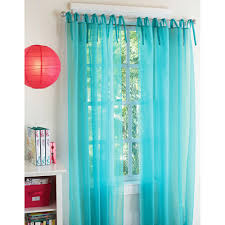 Walmart Sheer Curtain Panels Your Zone Expressions Tie Top Curtains Set Of 2 Walmart