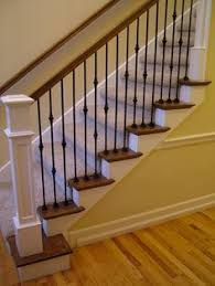 Wooden Banister Rails Heide Stair After Wood Balusters Iron And Woods