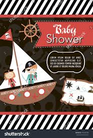 baby shower invitation card pirate theme stock vector 704248708