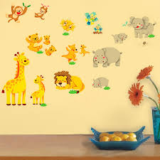 Animal Wall Decals For Nursery by Compare Prices On Wild Animal Cartoons Online Shopping Buy Low