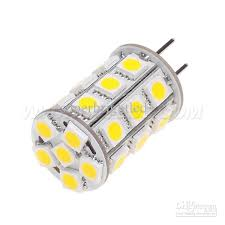 led light bulb replacement free shipment gy6 35 led g6 35 corn bulb 27leds smd 5050 4w