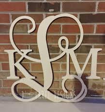 24 inch wooden monogram letters home decor weddings nursery