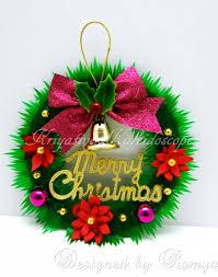 kriya tive kaleidoscope diy mini christmas wreath