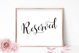 reserved signs for wedding tables printable reserved sign wedding reserved signs for wedding reserved