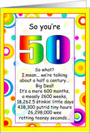 50th birthday cards from greeting card universe