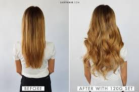 22 inch hair extensions before and after how to choose the right thickness of luxy hair extensions