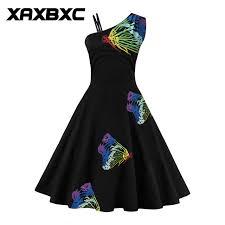 aliexpress buy size 7 10 vintage retro cool men xaxbxc 2017 summer retro vestido embroidery rainbow butterfly one