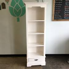 Single Bookcase Narrow Bookcase With Single Drawer Nadeau Sherman Oaks