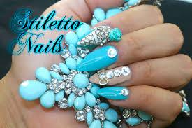 imagenes de uñas acrilicas con pedreria uñas acrilicas stiletto con piedras youtube