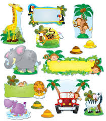 safari guide clipart jungle safari bulletin board set grade pk 5 carson dellosa
