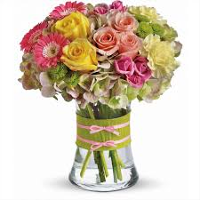 tulips pink a pink and yellow roses arrangements modern mix of