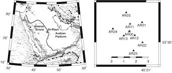 Saudi Arabia Blank Map by A Regional Seismic Array Of Three Component Stations In Central