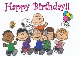 charlie brown snoopy peanuts gang happy birthday birthday