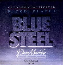 dean markley 2673a blue steel bass guitar 4 strings custom light
