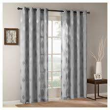 Jacquard Curtain Caris Sheer Ogee Jacquard Curtain Panel Target
