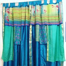 Sari Fabric Curtains Clever Curtain Roundup Everyday Tribal
