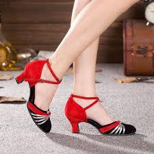 Comfort Ballroom Dance Shoes 7 Colors Red Blue Tango Salsa Ballroom Women Latin Dance Shoes
