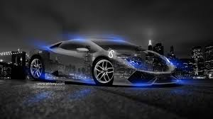 cars lamborghini blue lamborghini huracan crystal city car 2014 blue neon design by tony