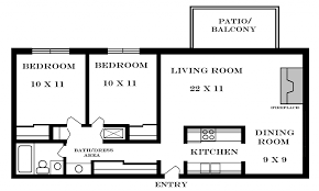 two apartment floor plans two bedroom apartment plan on bedroom with regard to two