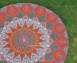 Livingroom Yoga by Living Room Wall Tapestry Bohemian Round Mandala Poster Cotton Yoga Ma
