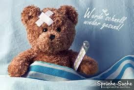sprüche zur guten besserung gute besserung werde schnell wieder gesund mit teddybär und
