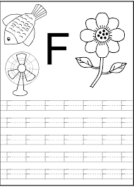letter f worksheet for preschool and kindergarten activity shelter