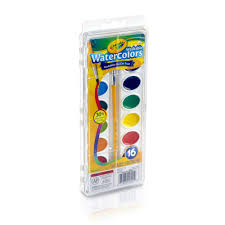 crayola washable watercolors 16 colors and 1 brush walmart com