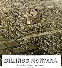 Birds Eye View Map Billings Montana In 1904 Bird U0027s Eye View Map Aerial Panorama