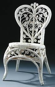794 a wicker chair with heart shaped back height 34 lot 794