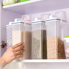 boite rangement cuisine 2 kg portable boîte de rangement de cuisine tasse à mesurer avec un