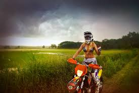 motocross biking wearing stilettos on a dirt bike shows how badass russian riders