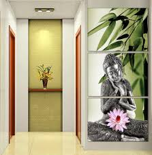 art painting for home decoration aliexpress com buy 3 panel buddhism buddha canvas painting