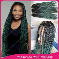 ombre marley hair stock cheap price 22 two tone black green synthetic twist