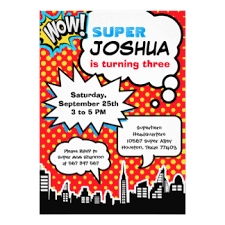 superhero birthday invitations u0026 announcements zazzle
