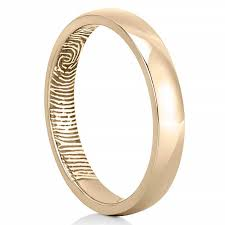 fingerprint wedding bands fingerprint wedding band women s fingerprint on inside of