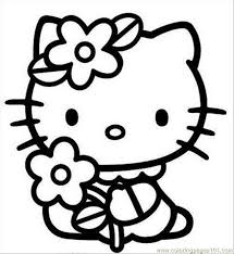 coloring pages kids print kitty coloring pages