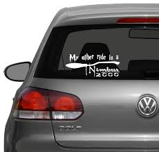 hogwarts alumni bumper sticker 10 best car images on vinyl car decals bumper