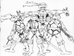 teenage mutant ninja turtles color coloring pages for 591812