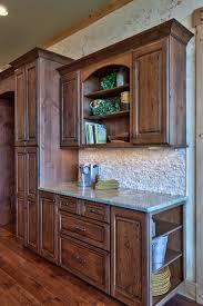 Stained Hickory Cabinets Knotty Alder Kitchen Cabinets Stunning Design Ideas 17 Dark
