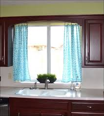 Contemporary Kitchen Curtains And Valances by Kitchen Blue And White Curtains Cheap Sheer Curtains Window
