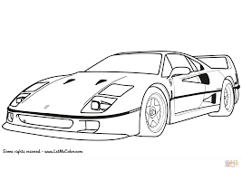 ferrari sketch ferrari f40 coloring page free printable coloring pages